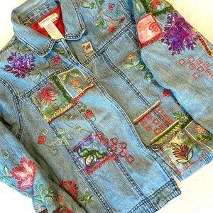 VINTAGE Cottagecore Patchwork Denim Jacket